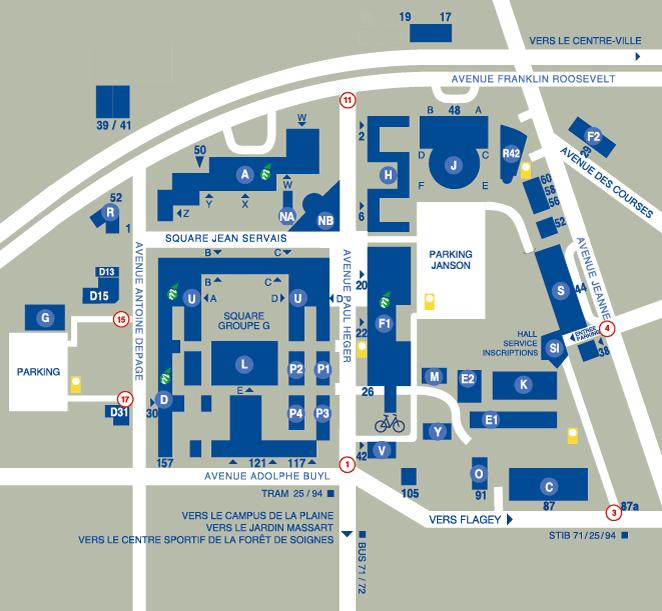 plan campus Solbosch